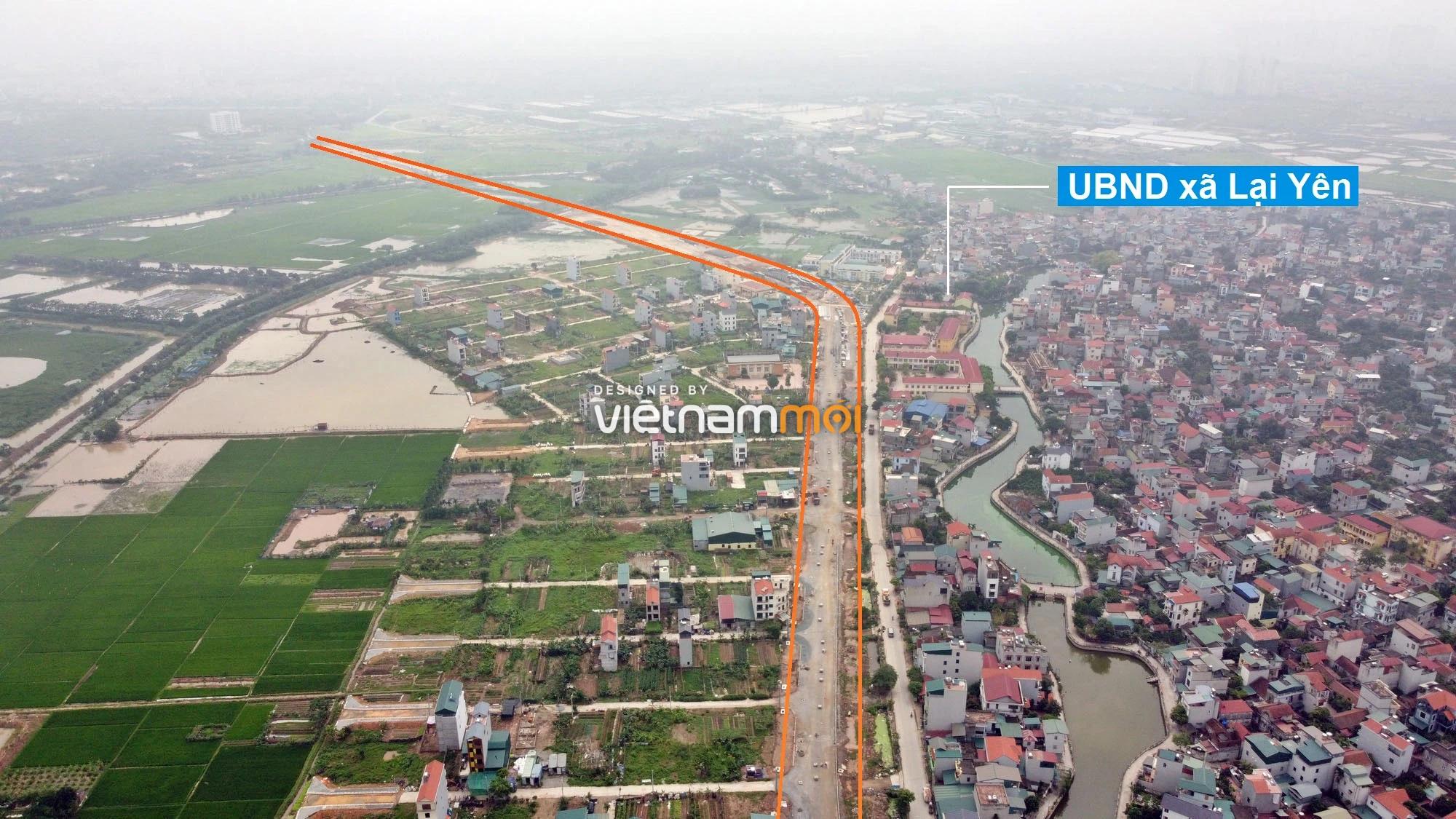 Toàn cảnh đường Lại Yên - Vân Canh đang mở theo quy hoạch ở Hà Nội - Ảnh 7.