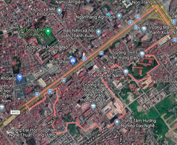 Bản đồ quy hoạch sử dụng đất phường Thanh Xuân Nam, Thanh Xuân, Hà Nội - Ảnh 1.