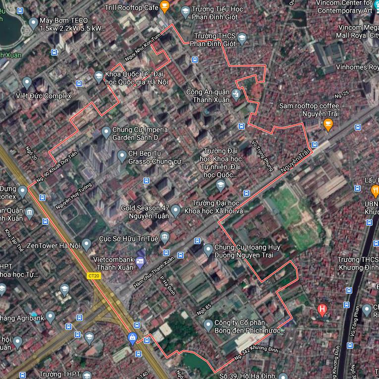 Bản đồ quy hoạch sử dụng đất phường Thanh Xuân Trung, Thanh Xuân, Hà Nội - Ảnh 1.