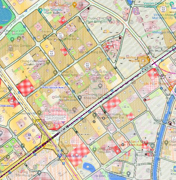 Bản đồ quy hoạch sử dụng đất phường Thanh Xuân Trung, Thanh Xuân, Hà Nội - Ảnh 2.
