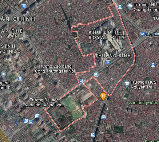 Bản đồ quy hoạch giao thông phường Thượng Đình, Thanh Xuân, Hà Nội - Ảnh 1.