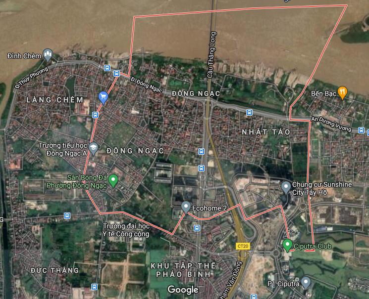 Bản đồ quy hoạch giao thông phường Đông Ngạc, Bắc Từ Liêm, Hà Nội - Ảnh 1.