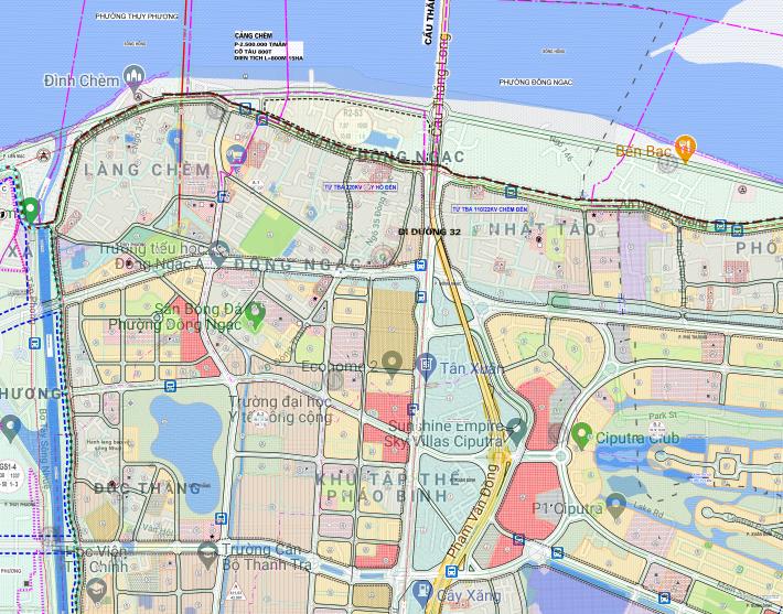 Bản đồ quy hoạch sử dụng đất phường Đông Ngạc, Bắc Từ Liêm, Hà Nội - Ảnh 2.