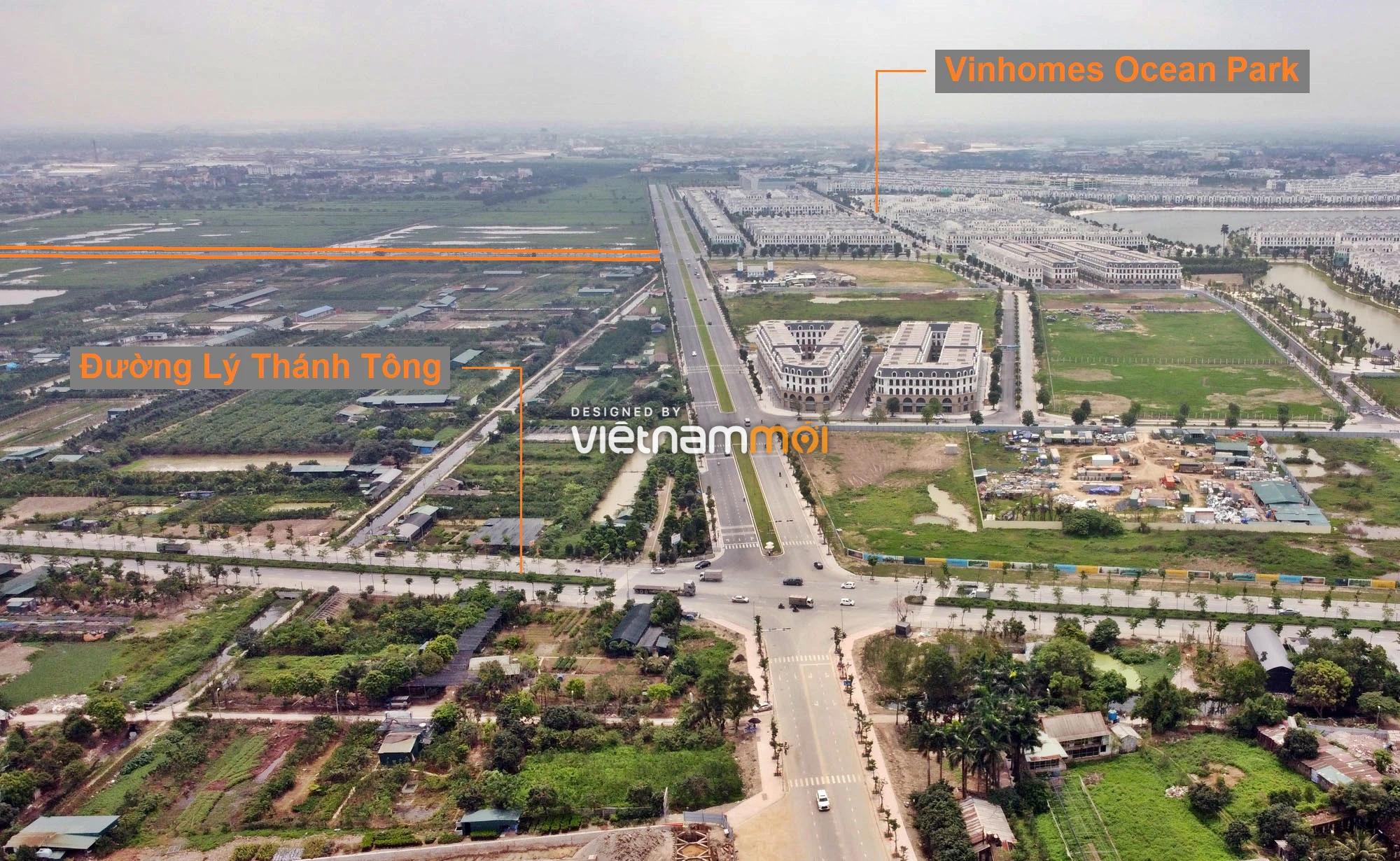Toàn cảnh đường nối Vinhomes Ocean Park với ga Phú Thụy đang mở theo quy hoạch ở Hà Nội - Ảnh 1.