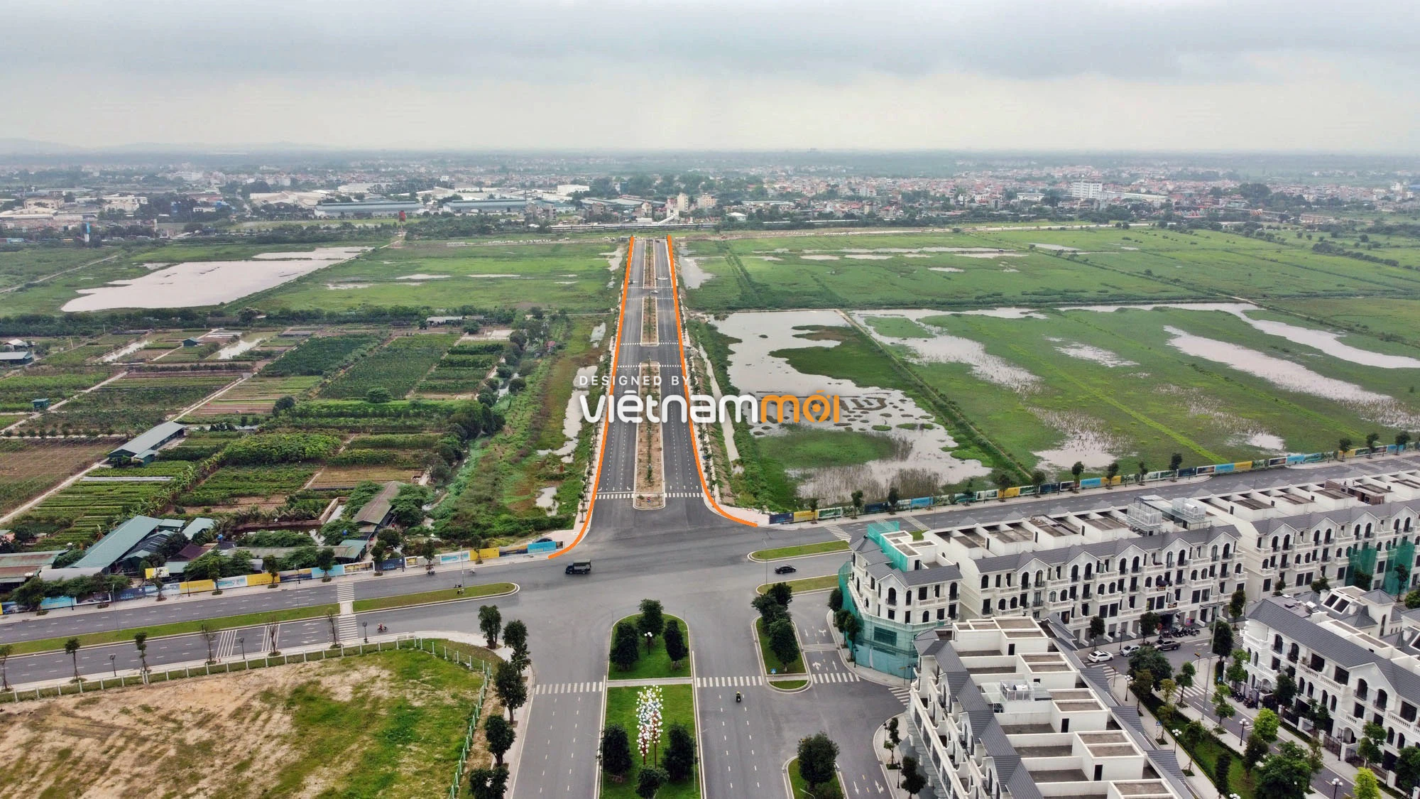 Toàn cảnh đường nối Vinhomes Ocean Park với ga Phú Thụy đang mở theo quy hoạch ở Hà Nội - Ảnh 2.