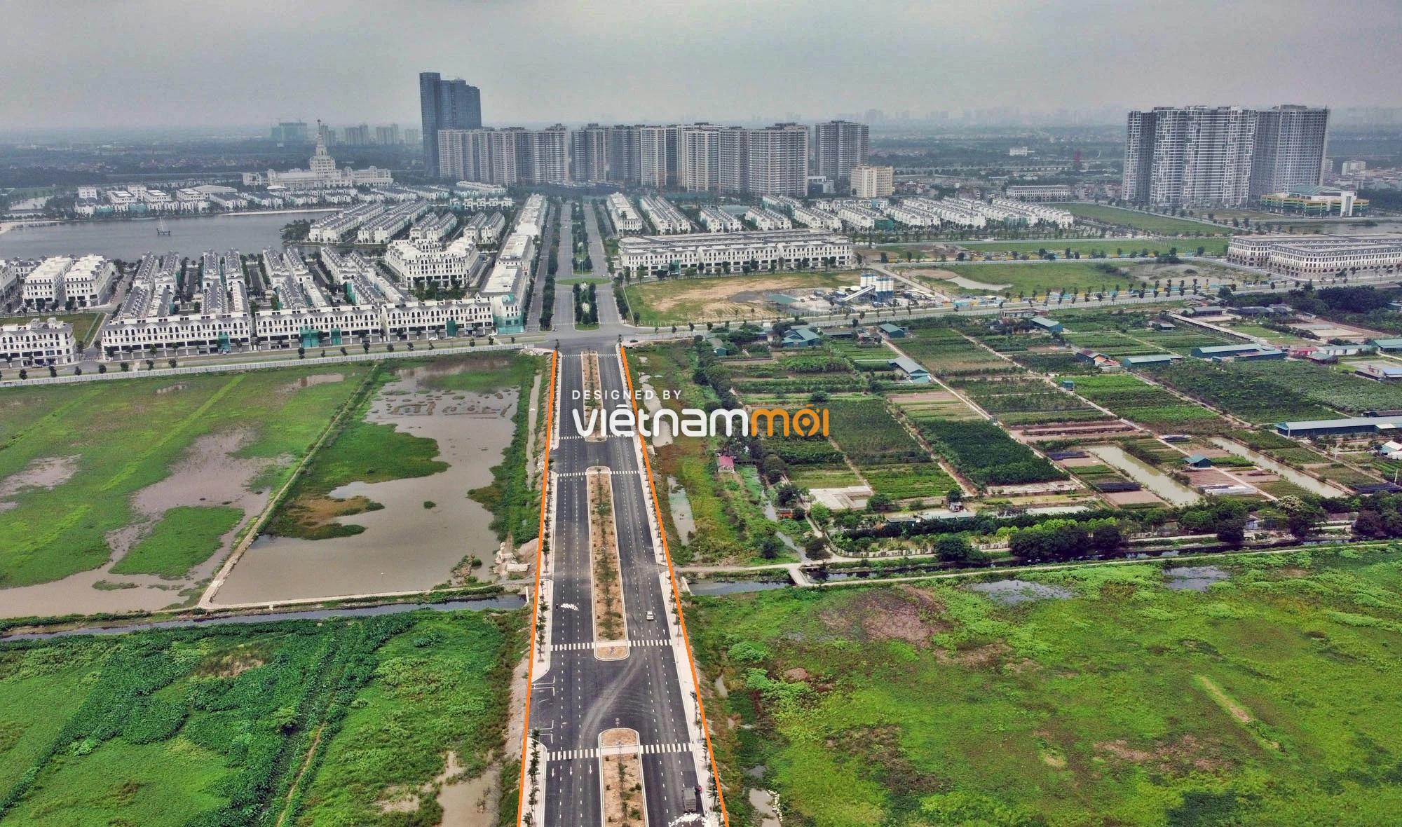 Toàn cảnh đường nối Vinhomes Ocean Park với ga Phú Thụy đang mở theo quy hoạch ở Hà Nội - Ảnh 3.