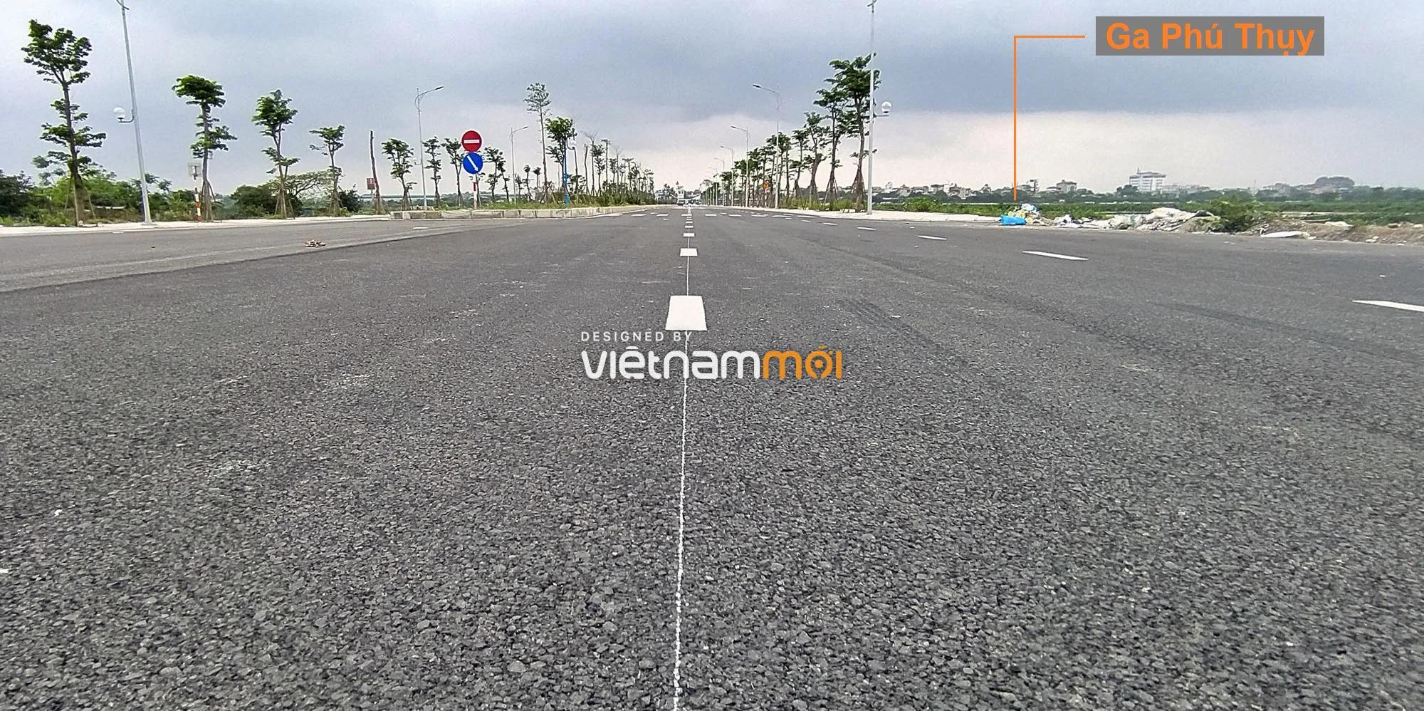 Toàn cảnh đường nối Vinhomes Ocean Park với ga Phú Thụy đang mở theo quy hoạch ở Hà Nội - Ảnh 5.