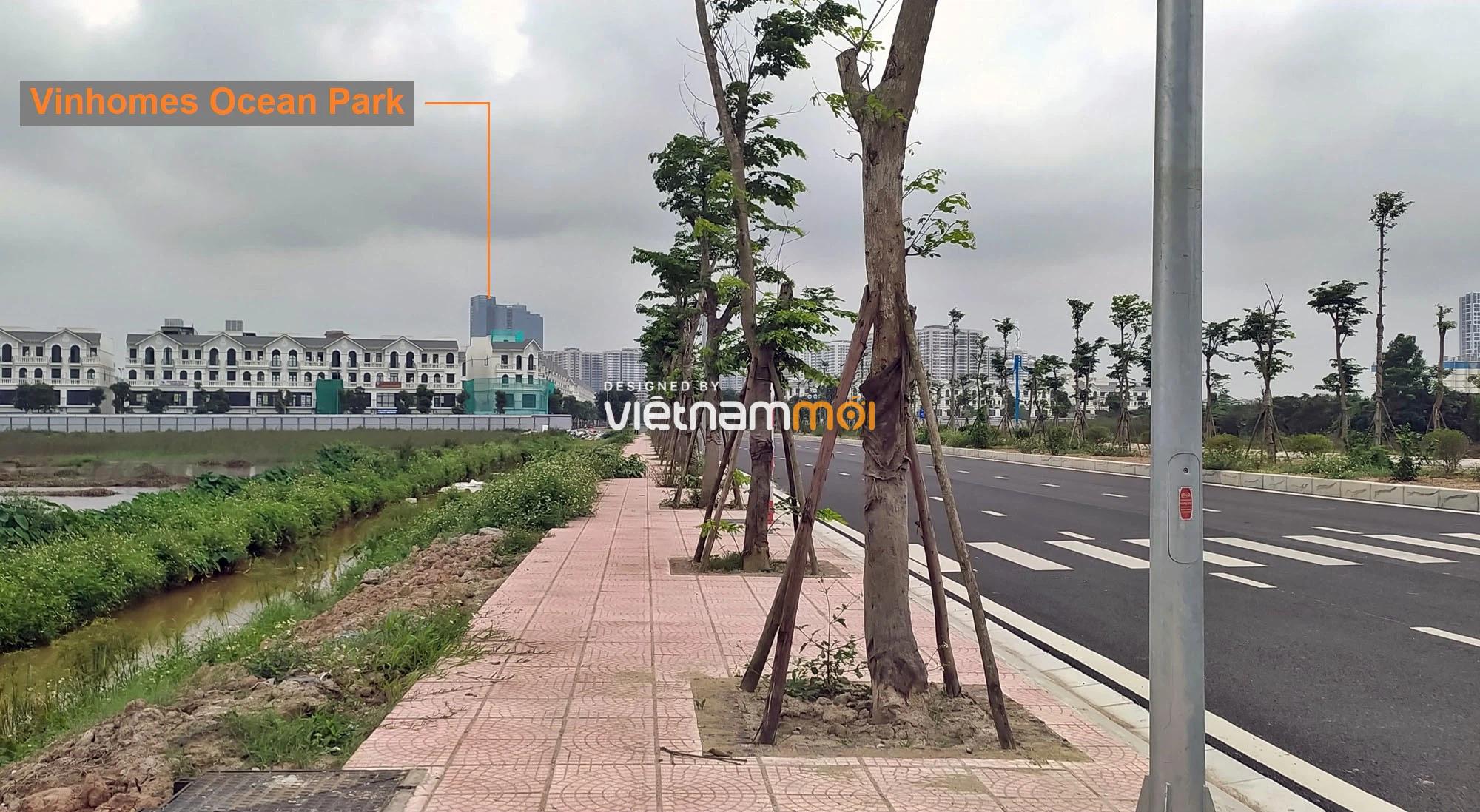 Toàn cảnh đường nối Vinhomes Ocean Park với ga Phú Thụy đang mở theo quy hoạch ở Hà Nội - Ảnh 6.