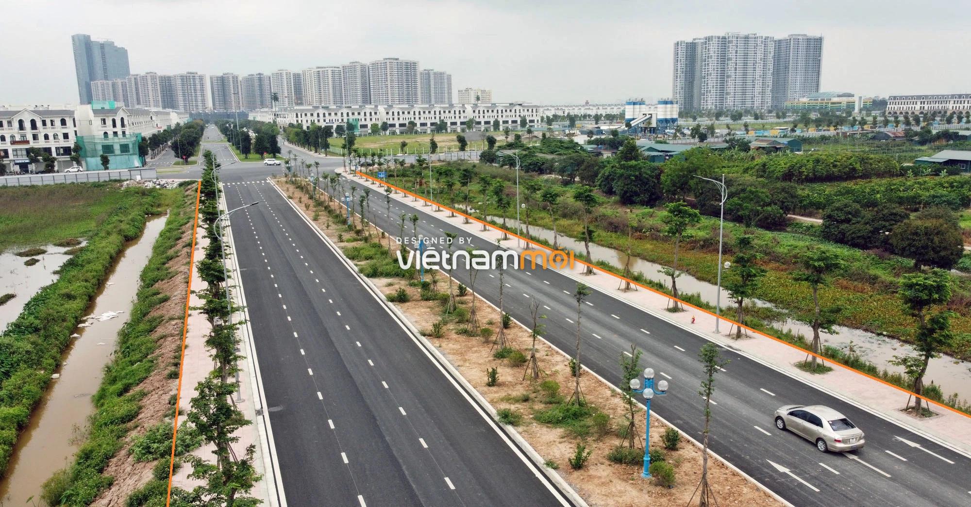 Toàn cảnh đường nối Vinhomes Ocean Park với ga Phú Thụy đang mở theo quy hoạch ở Hà Nội - Ảnh 9.