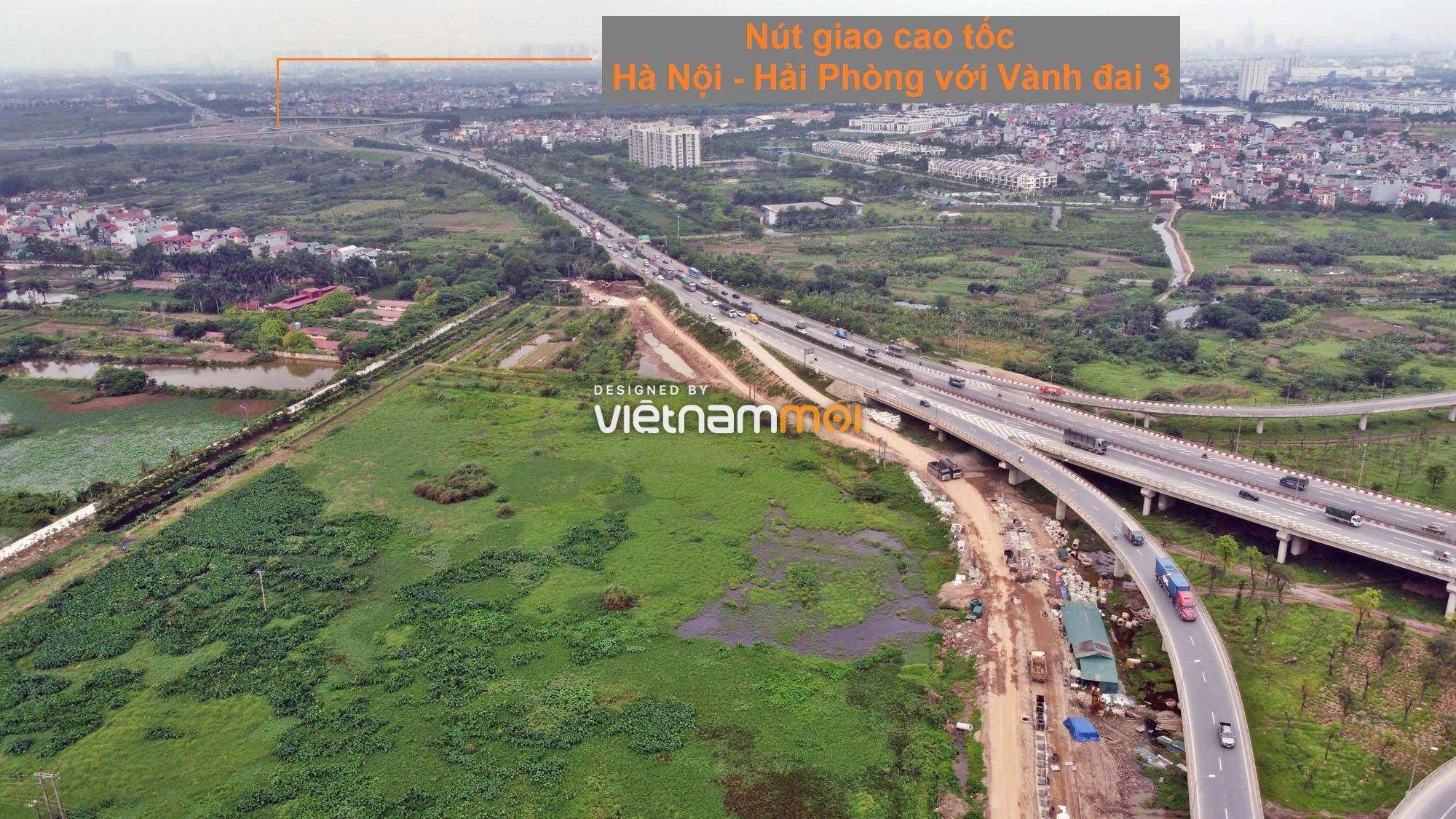 Toàn cảnh tuyến đường gom từ cầu Thanh Trì đến cầu vượt Phú Thị đang mở theo quy hoạch ở Hà Nội - Ảnh 1.