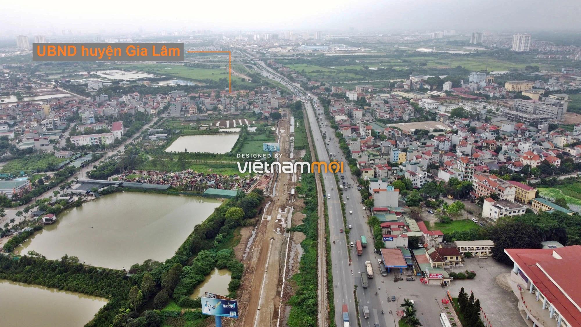 Toàn cảnh tuyến đường gom từ cầu Thanh Trì đến cầu vượt Phú Thị đang mở theo quy hoạch ở Hà Nội - Ảnh 7.