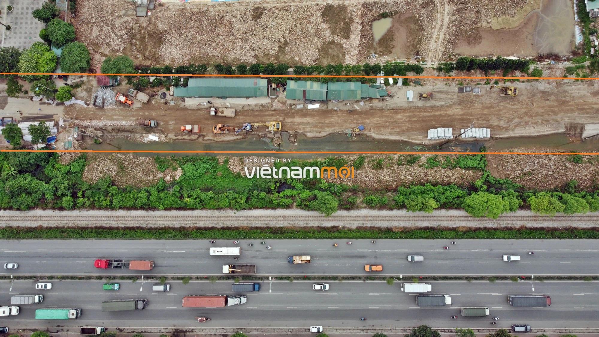 Toàn cảnh tuyến đường gom từ cầu Thanh Trì đến cầu vượt Phú Thị đang mở theo quy hoạch ở Hà Nội - Ảnh 9.