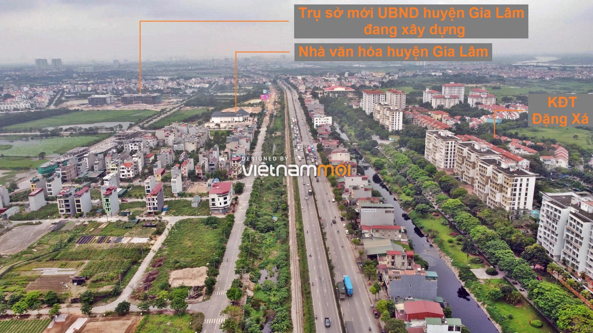 Toàn cảnh tuyến đường gom từ cầu Thanh Trì đến cầu vượt Phú Thị đang mở theo quy hoạch ở Hà Nội - Ảnh 10.