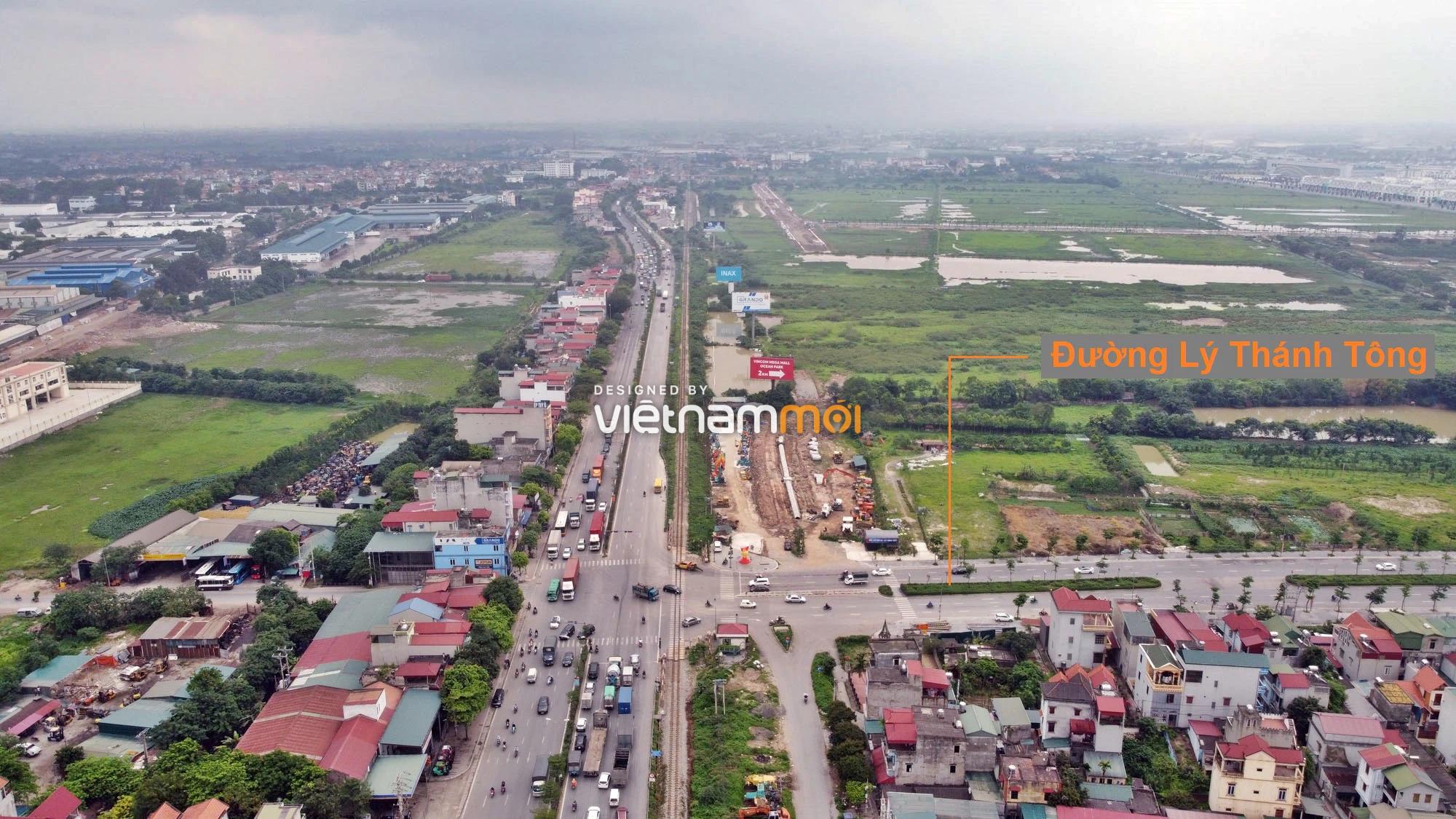 Toàn cảnh tuyến đường gom từ cầu Thanh Trì đến cầu vượt Phú Thị đang mở theo quy hoạch ở Hà Nội - Ảnh 11.