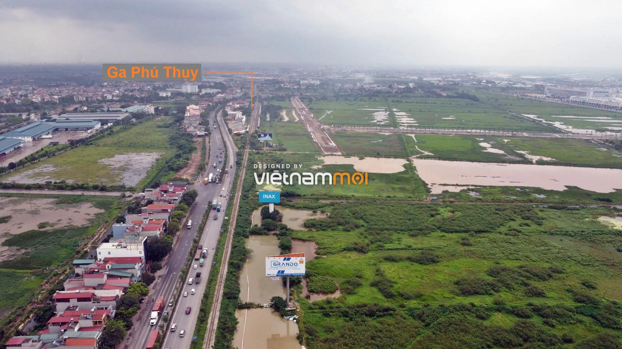 Toàn cảnh tuyến đường gom từ cầu Thanh Trì đến cầu vượt Phú Thị đang mở theo quy hoạch ở Hà Nội - Ảnh 12.