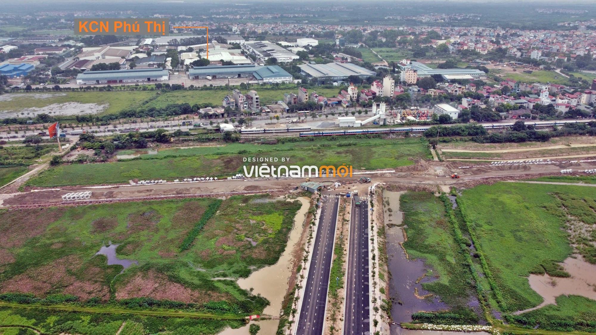 Toàn cảnh tuyến đường gom từ cầu Thanh Trì đến cầu vượt Phú Thị đang mở theo quy hoạch ở Hà Nội - Ảnh 13.