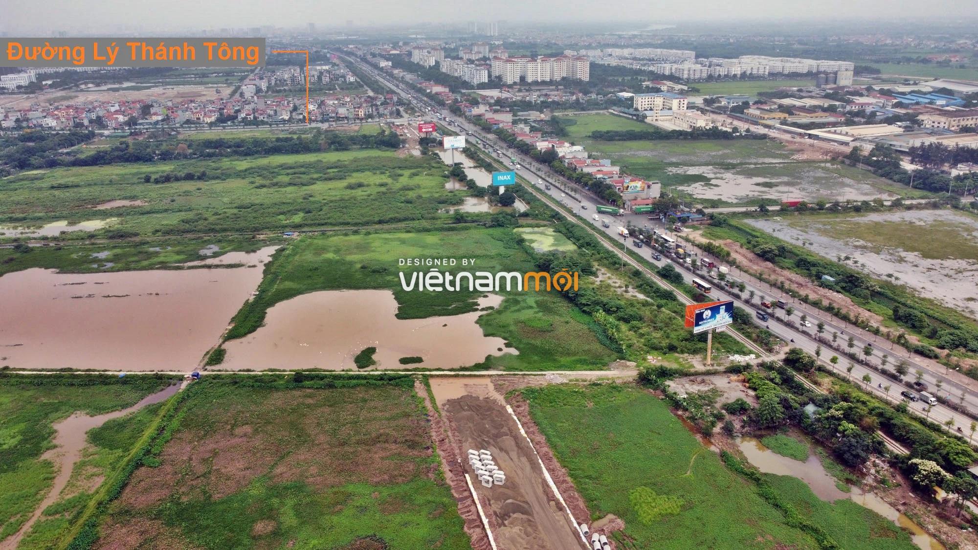 Toàn cảnh tuyến đường gom từ cầu Thanh Trì đến cầu vượt Phú Thị đang mở theo quy hoạch ở Hà Nội - Ảnh 14.