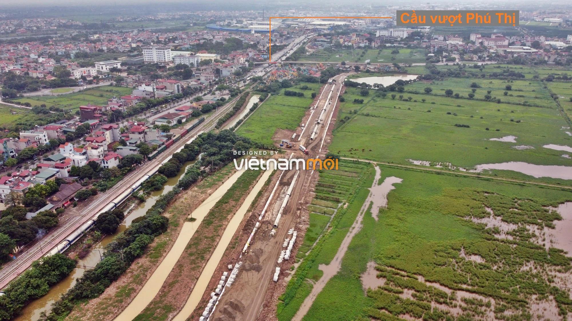 Toàn cảnh tuyến đường gom từ cầu Thanh Trì đến cầu vượt Phú Thị đang mở theo quy hoạch ở Hà Nội - Ảnh 16.