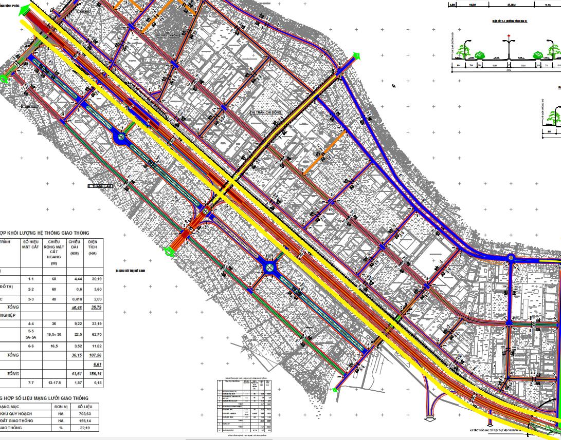 Đường sẽ mở ở huyện Mê Linh, Hà Nội - Ảnh 1.