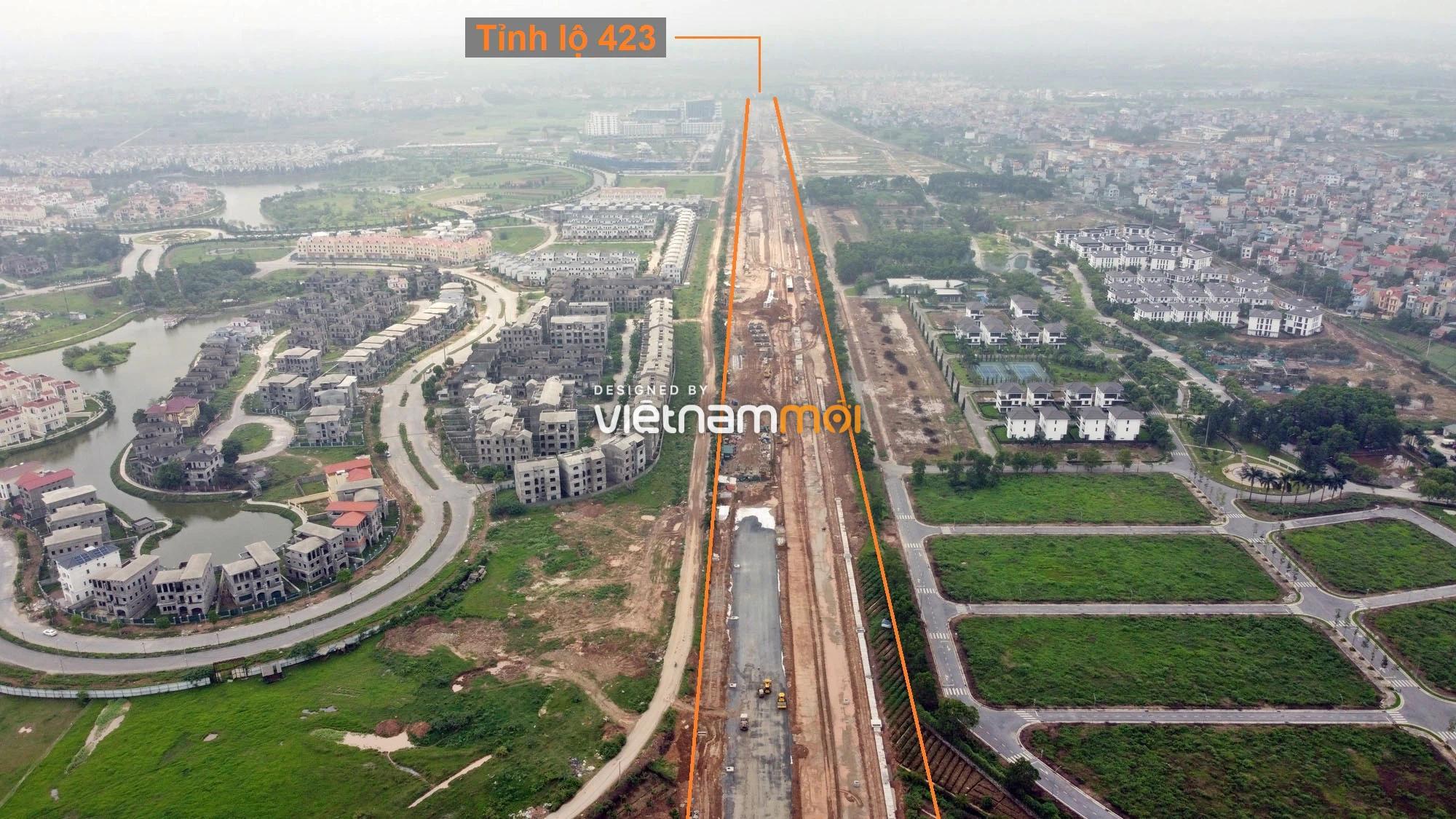 Toàn cảnh đường nối Đại lộ Thăng Long - tỉnh lộ 423 qua KĐT Nam An Khánh đang mở theo quy hoạch ở Hà Nội - Ảnh 3.