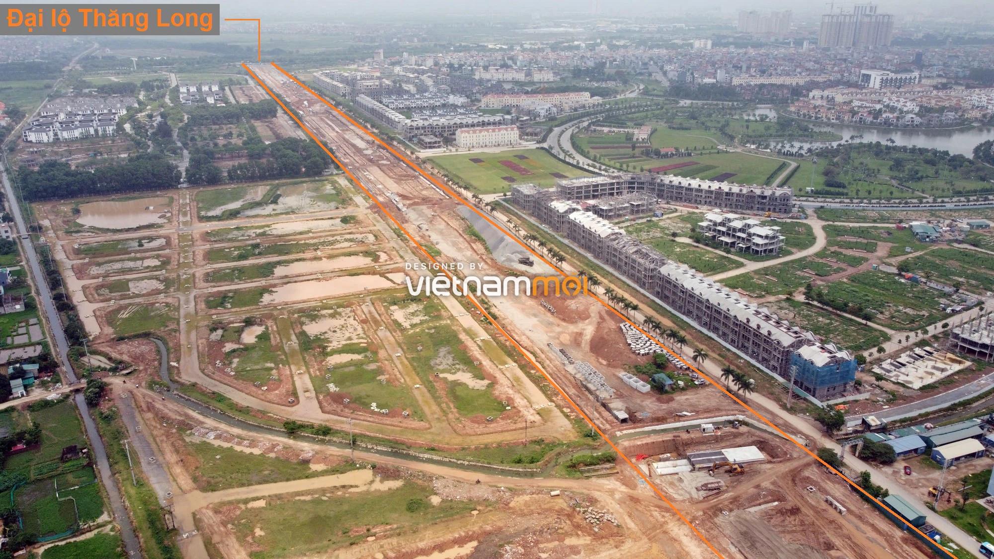 Toàn cảnh đường nối Đại lộ Thăng Long - tỉnh lộ 423 qua KĐT Nam An Khánh đang mở theo quy hoạch ở Hà Nội - Ảnh 5.