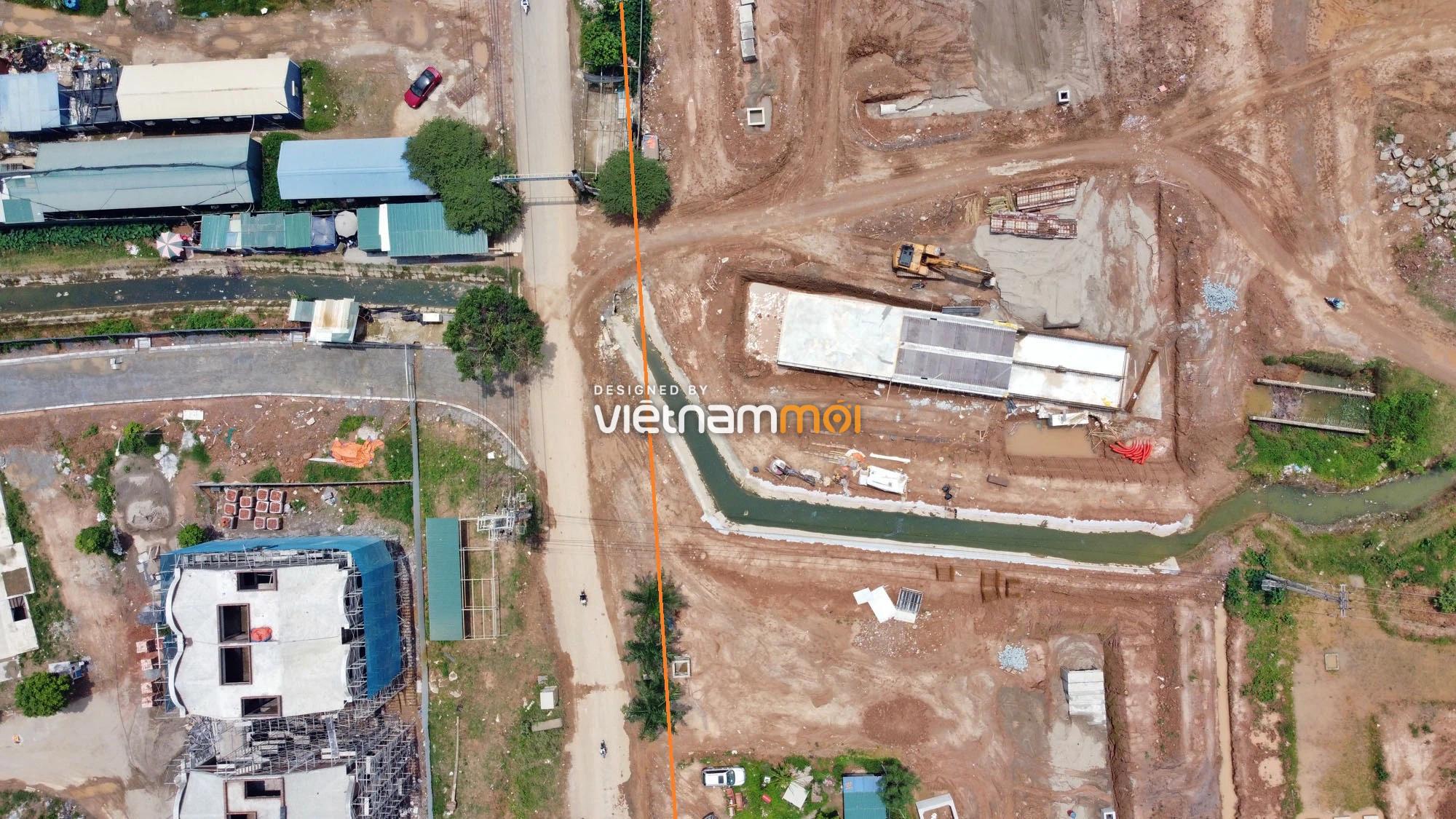 Toàn cảnh đường nối Đại lộ Thăng Long - tỉnh lộ 423 qua KĐT Nam An Khánh đang mở theo quy hoạch ở Hà Nội - Ảnh 7.
