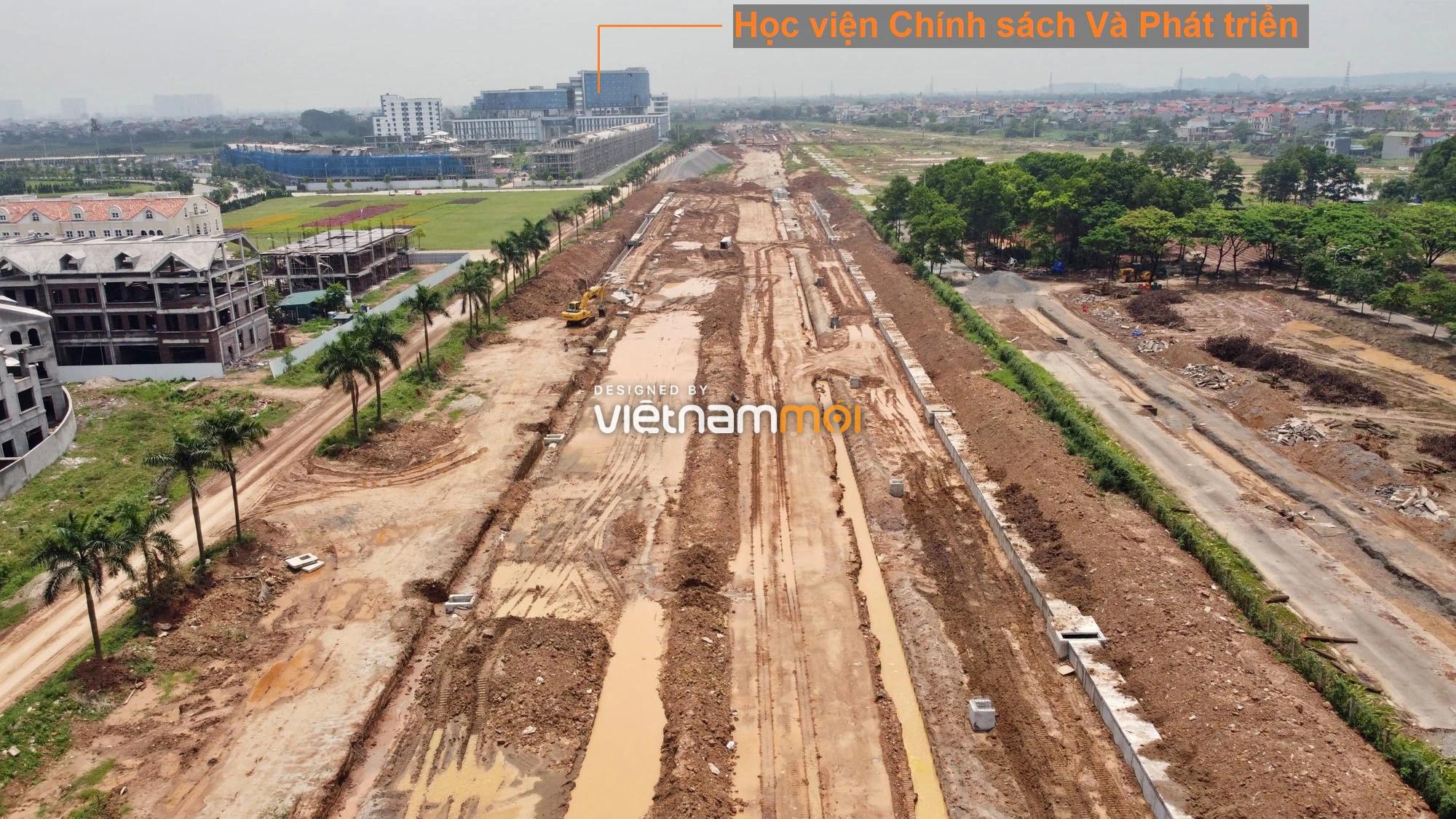 Toàn cảnh đường nối Đại lộ Thăng Long - tỉnh lộ 423 qua KĐT Nam An Khánh đang mở theo quy hoạch ở Hà Nội - Ảnh 8.