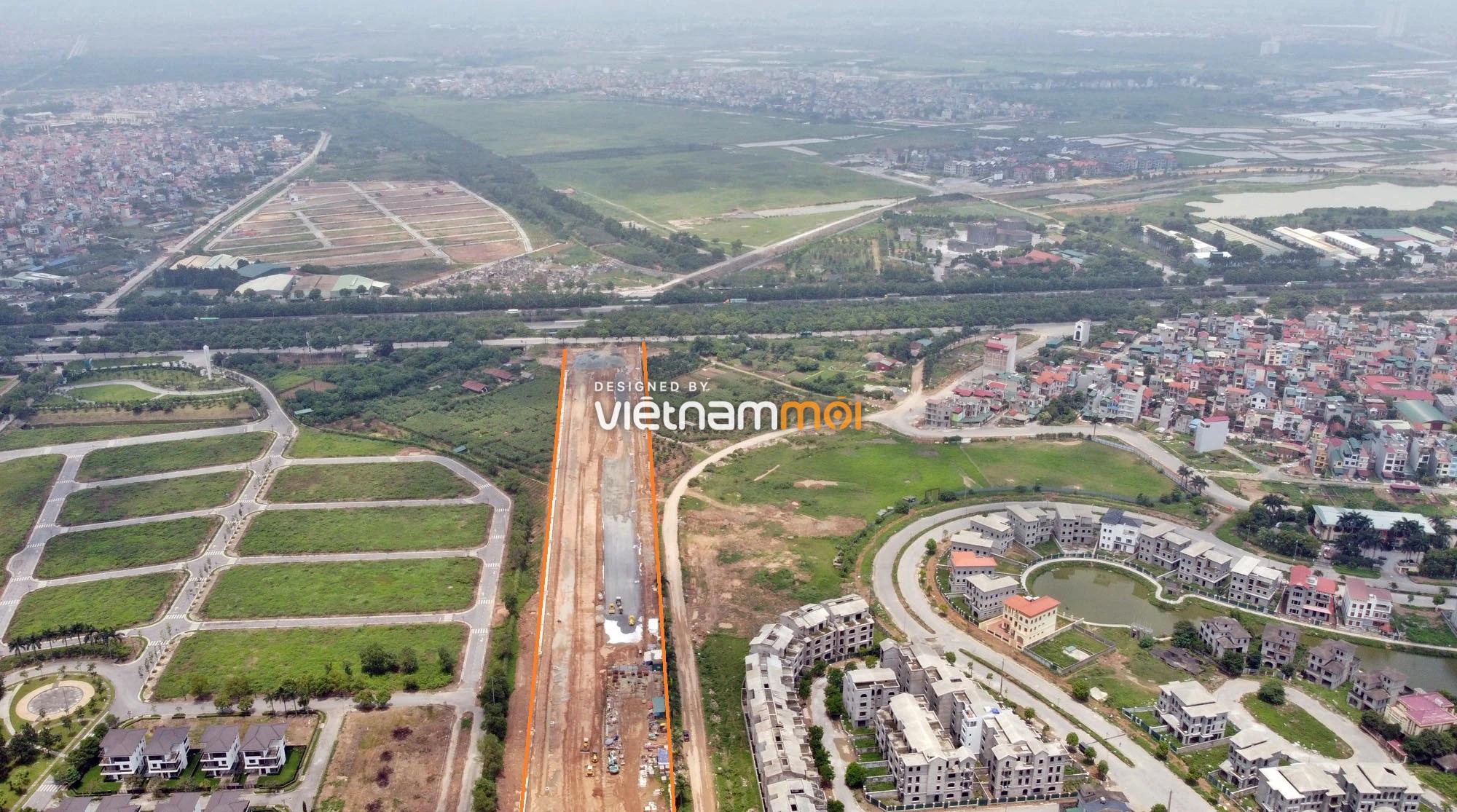 Toàn cảnh đường nối Đại lộ Thăng Long - tỉnh lộ 423 qua KĐT Nam An Khánh đang mở theo quy hoạch ở Hà Nội - Ảnh 9.