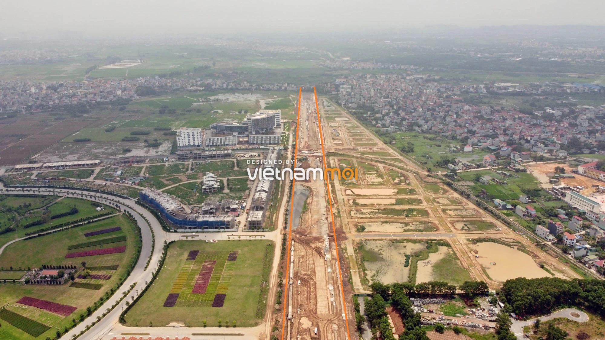 Toàn cảnh đường nối Đại lộ Thăng Long - tỉnh lộ 423 qua KĐT Nam An Khánh đang mở theo quy hoạch ở Hà Nội - Ảnh 10.