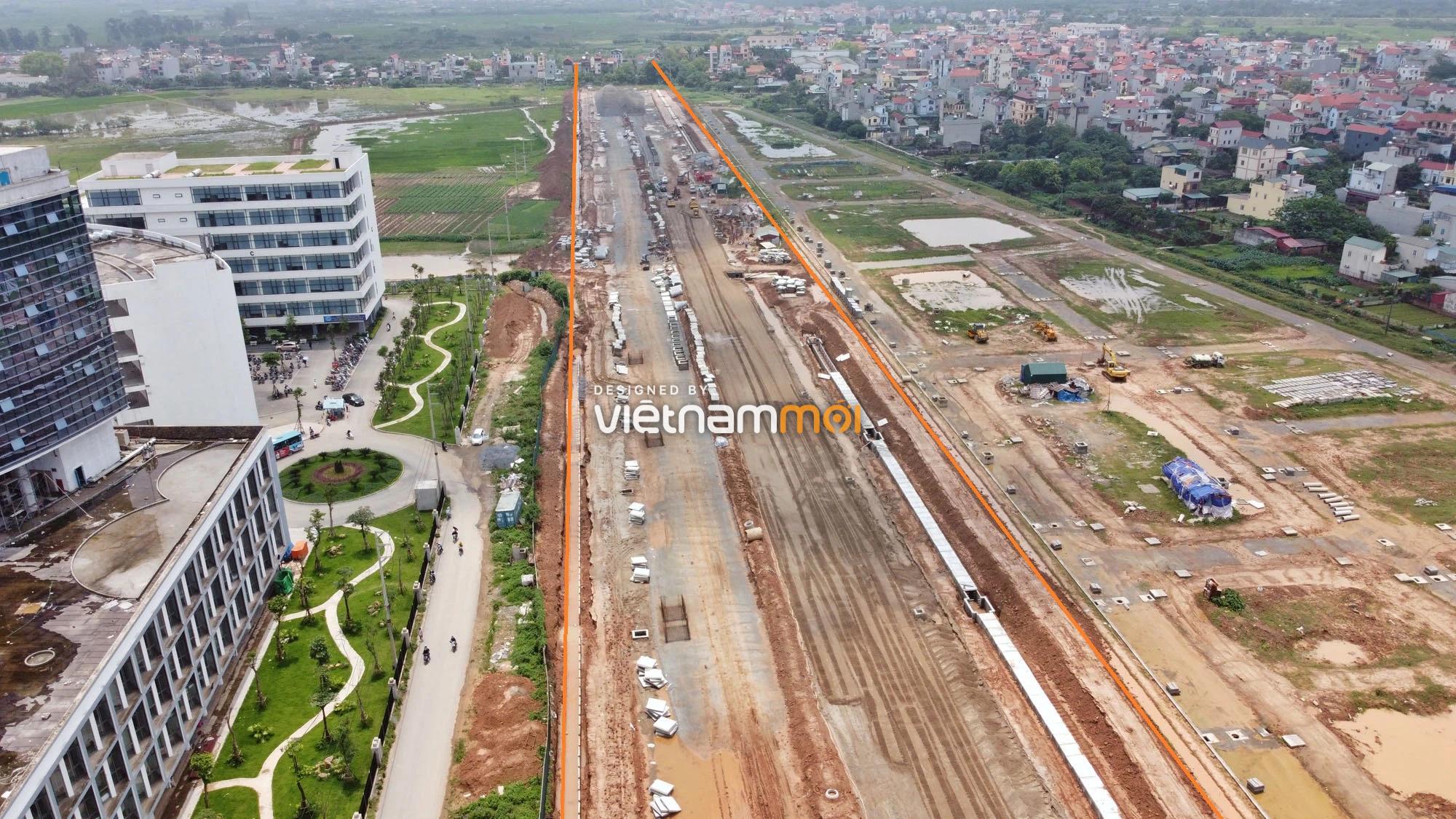 Toàn cảnh đường nối Đại lộ Thăng Long - tỉnh lộ 423 qua KĐT Nam An Khánh đang mở theo quy hoạch ở Hà Nội - Ảnh 11.