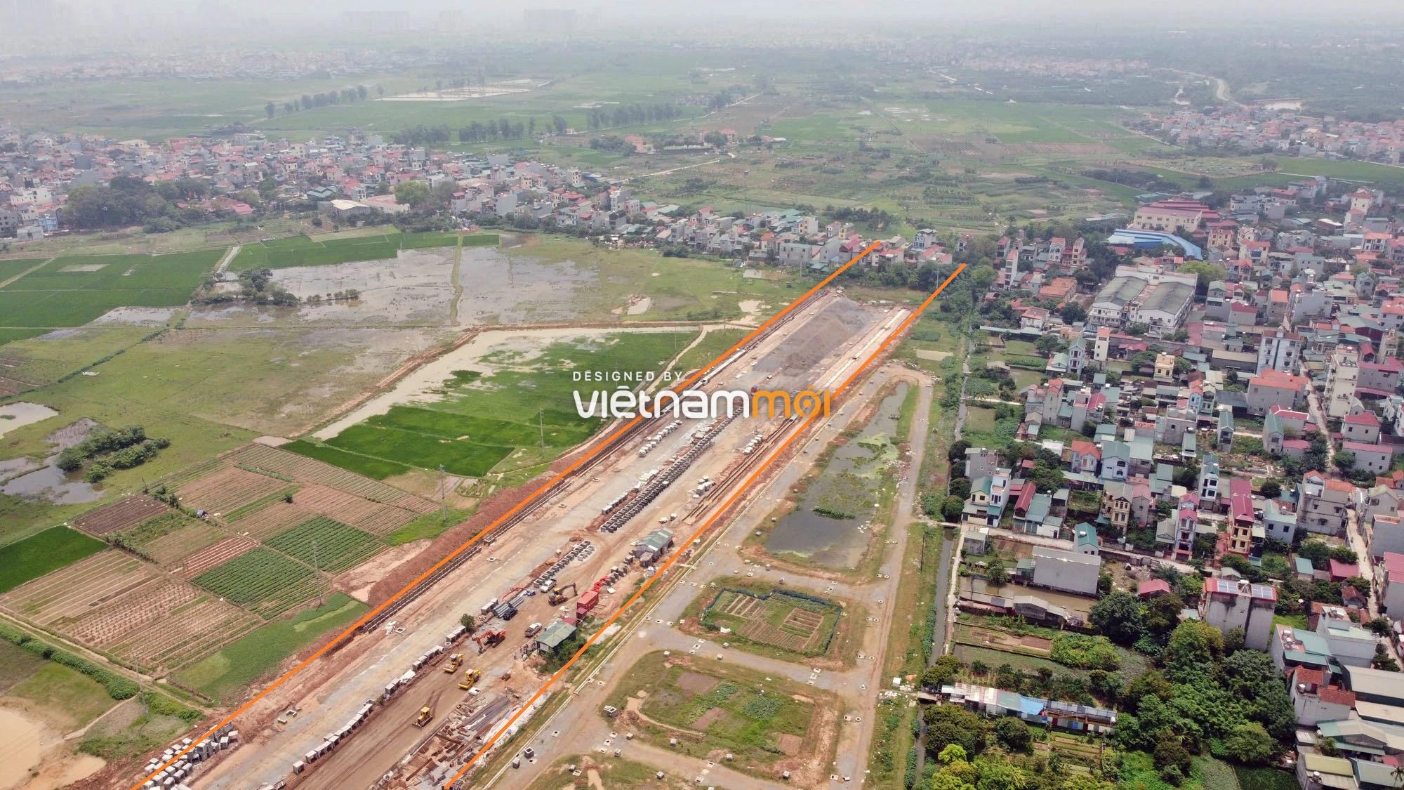 Toàn cảnh đường nối Đại lộ Thăng Long - tỉnh lộ 423 qua KĐT Nam An Khánh đang mở theo quy hoạch ở Hà Nội - Ảnh 13.