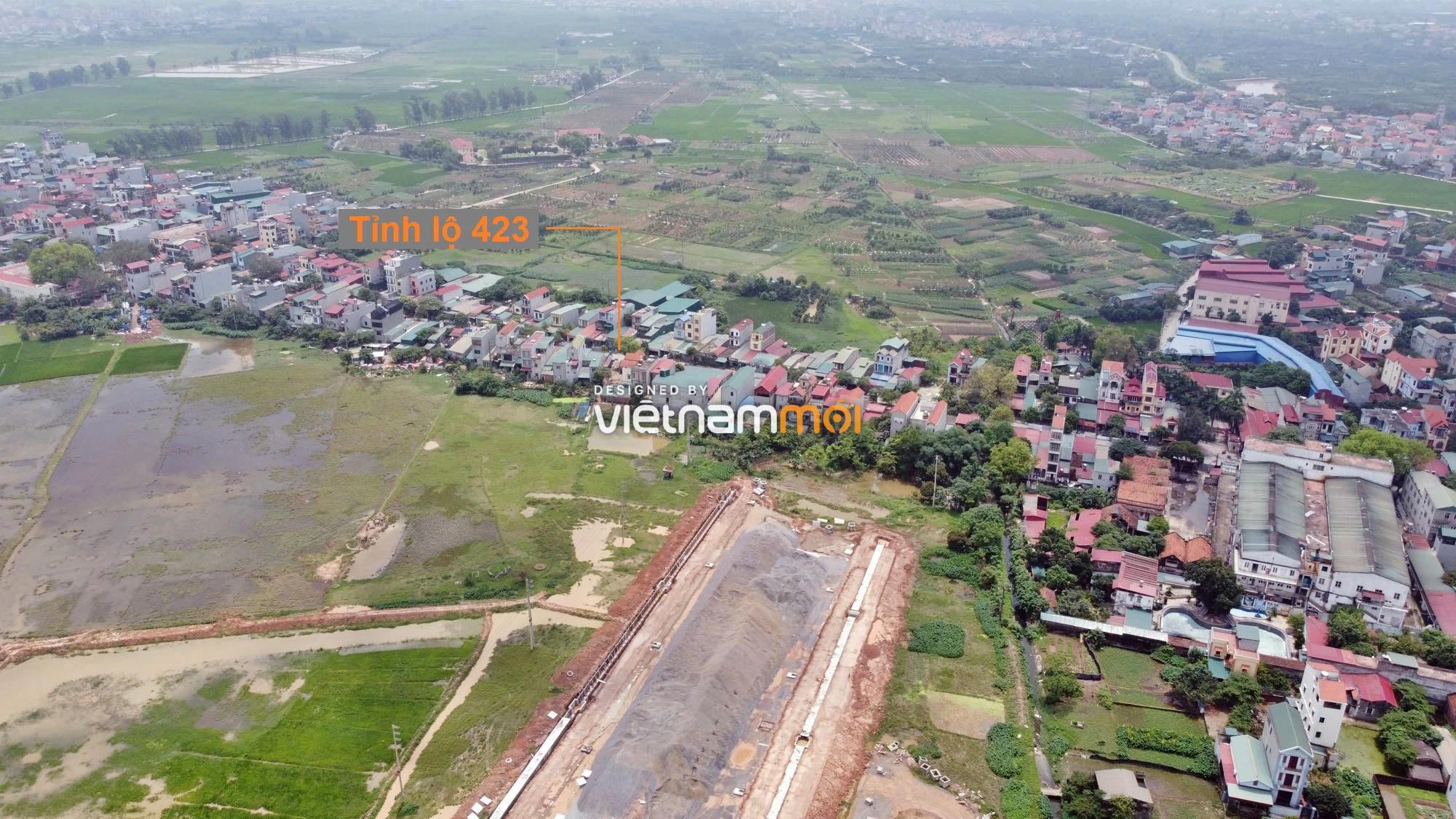 Toàn cảnh đường nối Đại lộ Thăng Long - tỉnh lộ 423 qua KĐT Nam An Khánh đang mở theo quy hoạch ở Hà Nội - Ảnh 14.