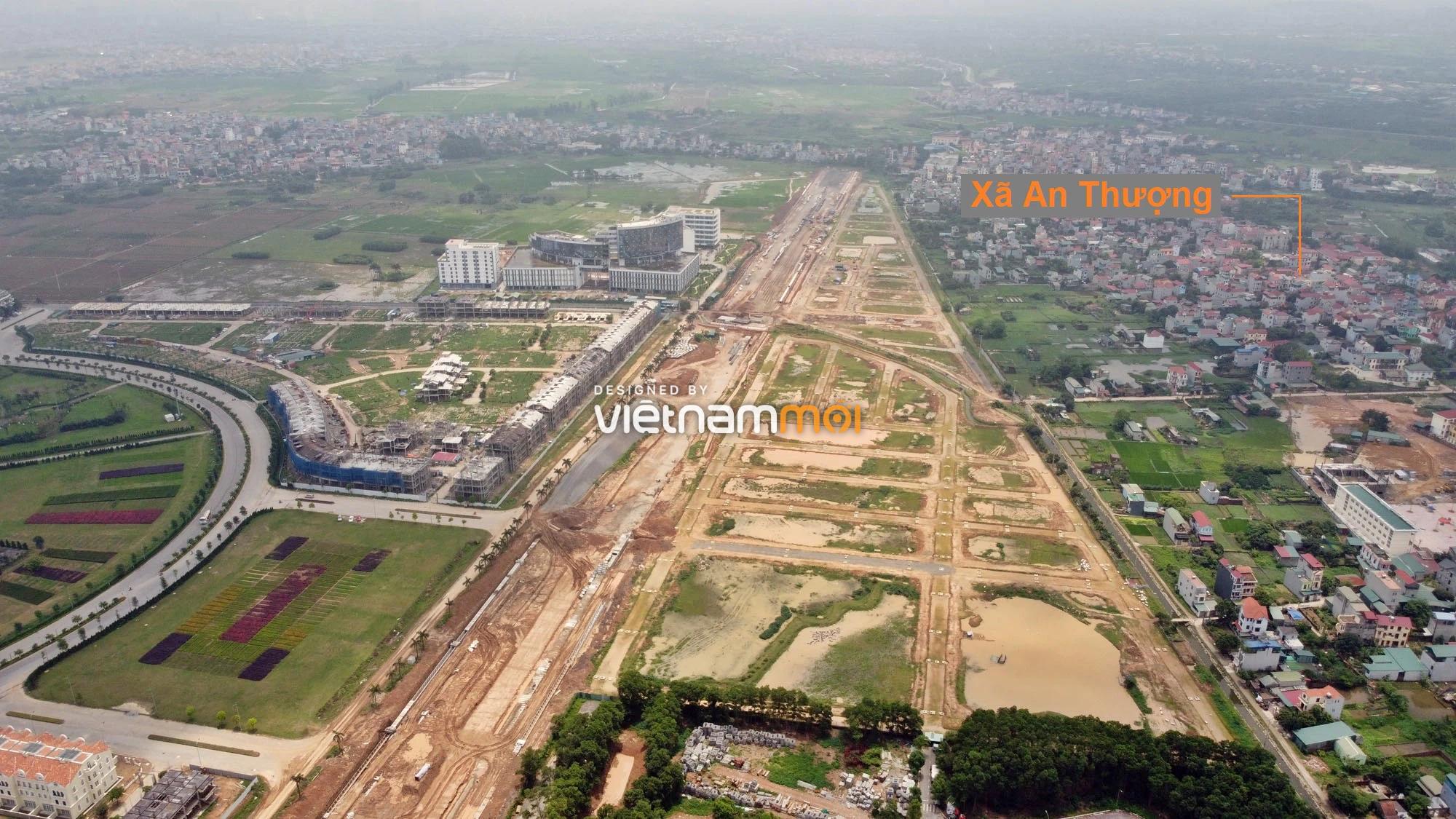Toàn cảnh đường nối Đại lộ Thăng Long - tỉnh lộ 423 qua KĐT Nam An Khánh đang mở theo quy hoạch ở Hà Nội - Ảnh 15.