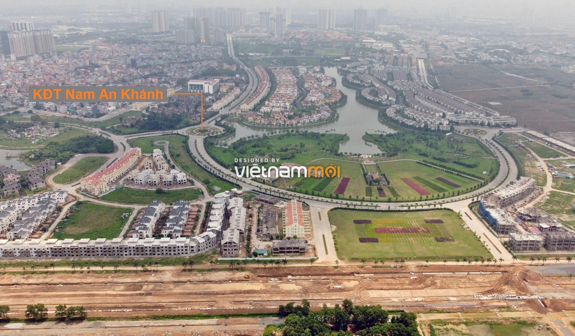 Toàn cảnh đường nối Đại lộ Thăng Long - tỉnh lộ 423 qua KĐT Nam An Khánh đang mở theo quy hoạch ở Hà Nội - Ảnh 17.