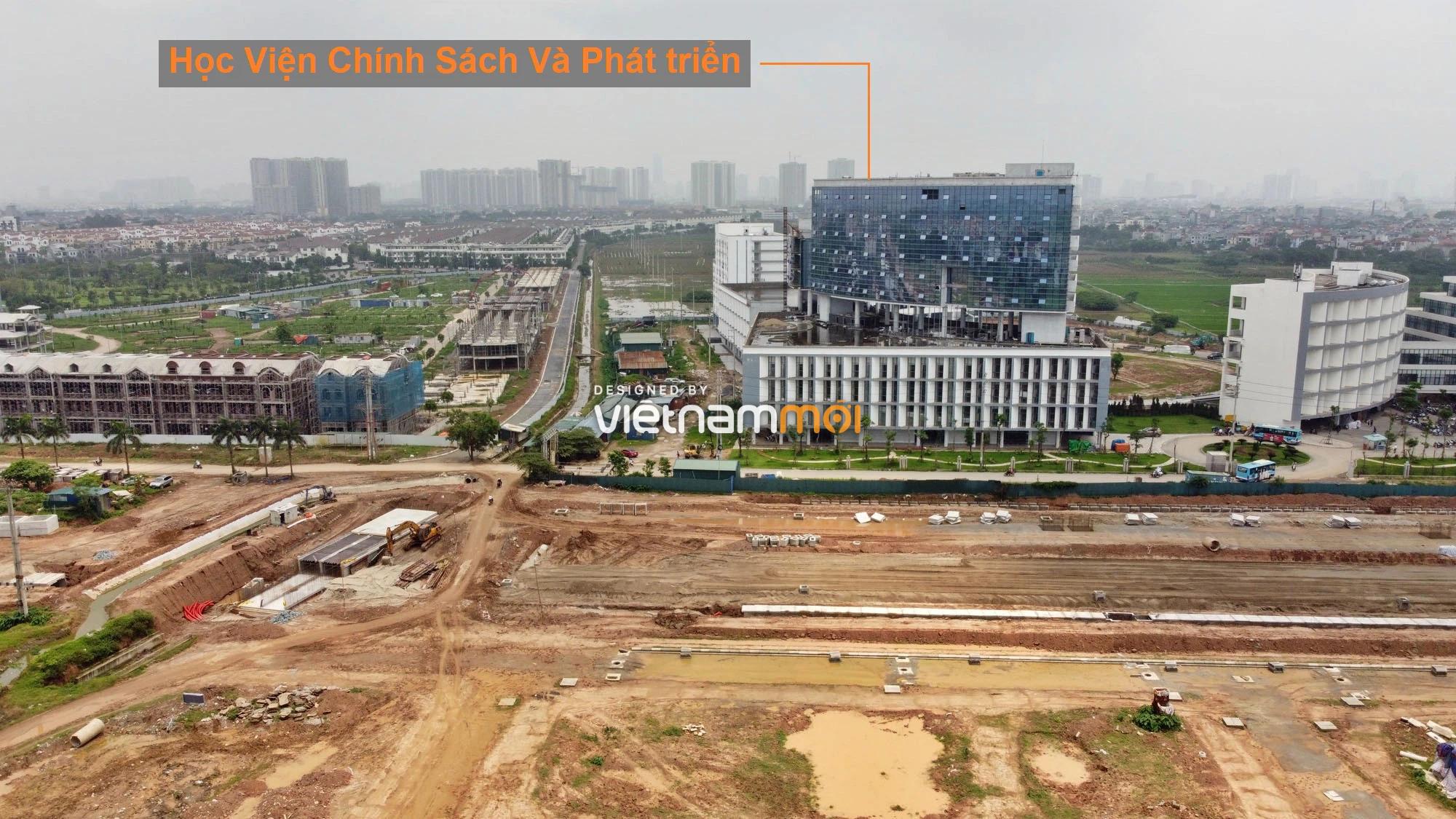 Toàn cảnh đường nối Đại lộ Thăng Long - tỉnh lộ 423 qua KĐT Nam An Khánh đang mở theo quy hoạch ở Hà Nội - Ảnh 18.