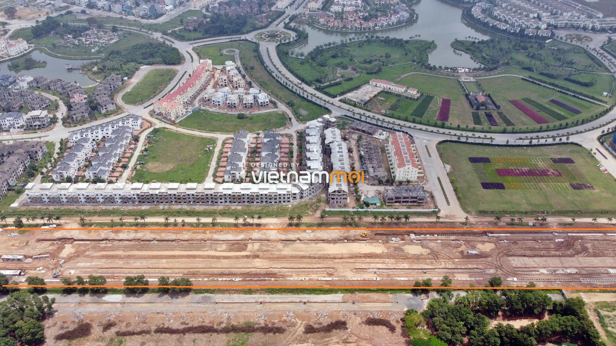 Toàn cảnh đường nối Đại lộ Thăng Long - tỉnh lộ 423 qua KĐT Nam An Khánh đang mở theo quy hoạch ở Hà Nội - Ảnh 19.