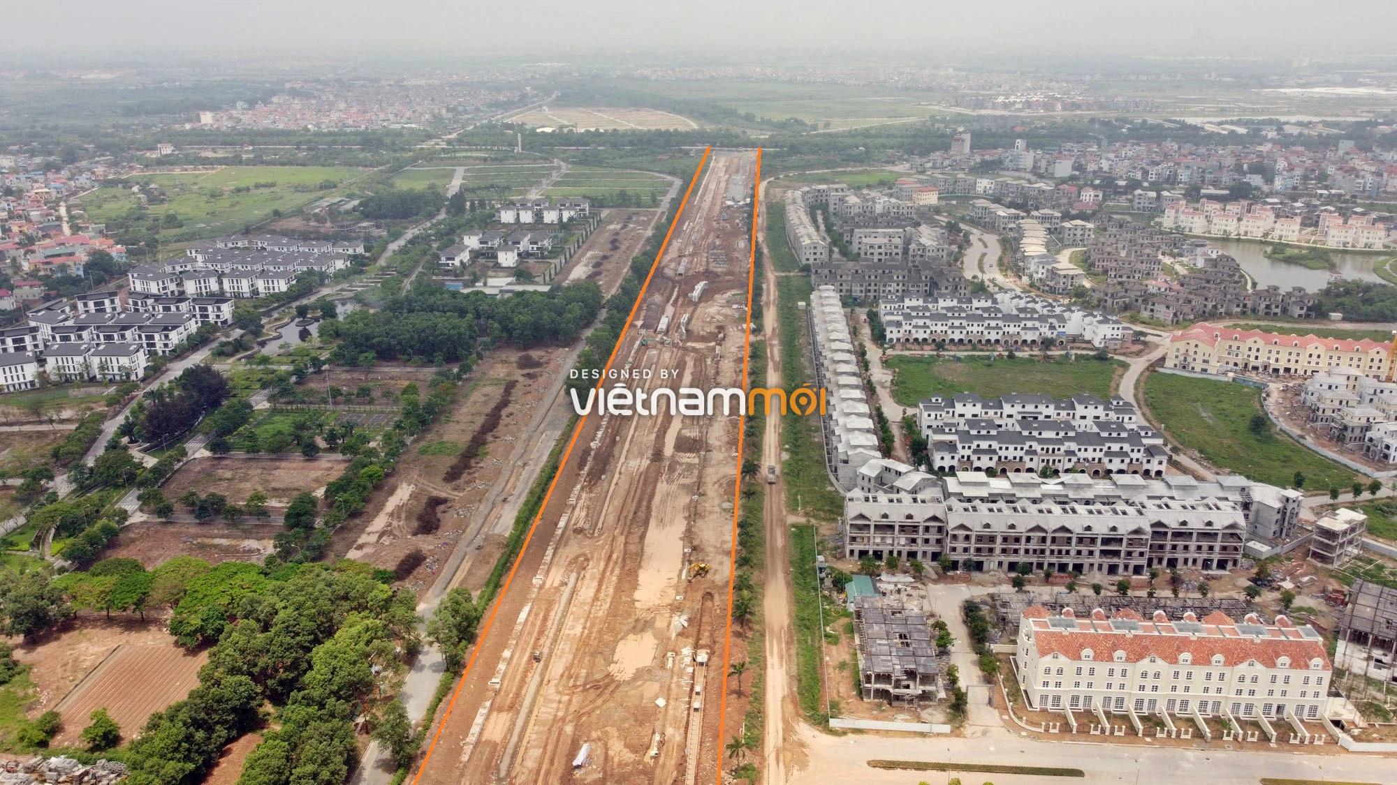 Toàn cảnh đường nối Đại lộ Thăng Long - tỉnh lộ 423 qua KĐT Nam An Khánh đang mở theo quy hoạch ở Hà Nội - Ảnh 20.