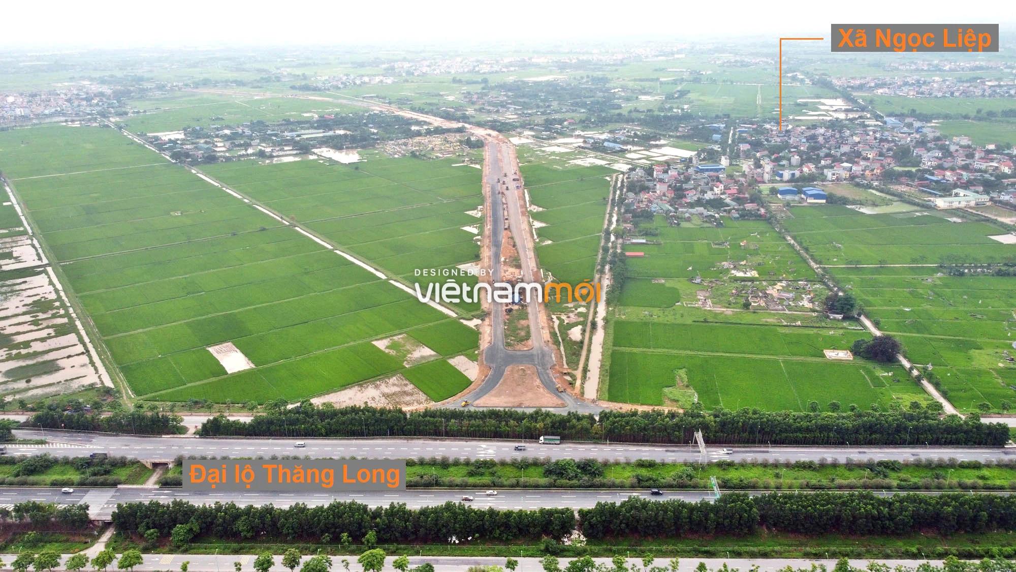 Toàn cảnh đường trục chính Bắc - Nam KĐT Quốc Oai kéo dài đang mở theo quy hoạch ở Hà Nội - Ảnh 1.