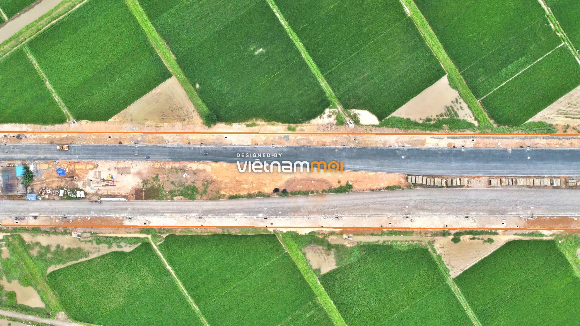 Toàn cảnh đường trục chính Bắc - Nam KĐT Quốc Oai kéo dài đang mở theo quy hoạch ở Hà Nội - Ảnh 3.