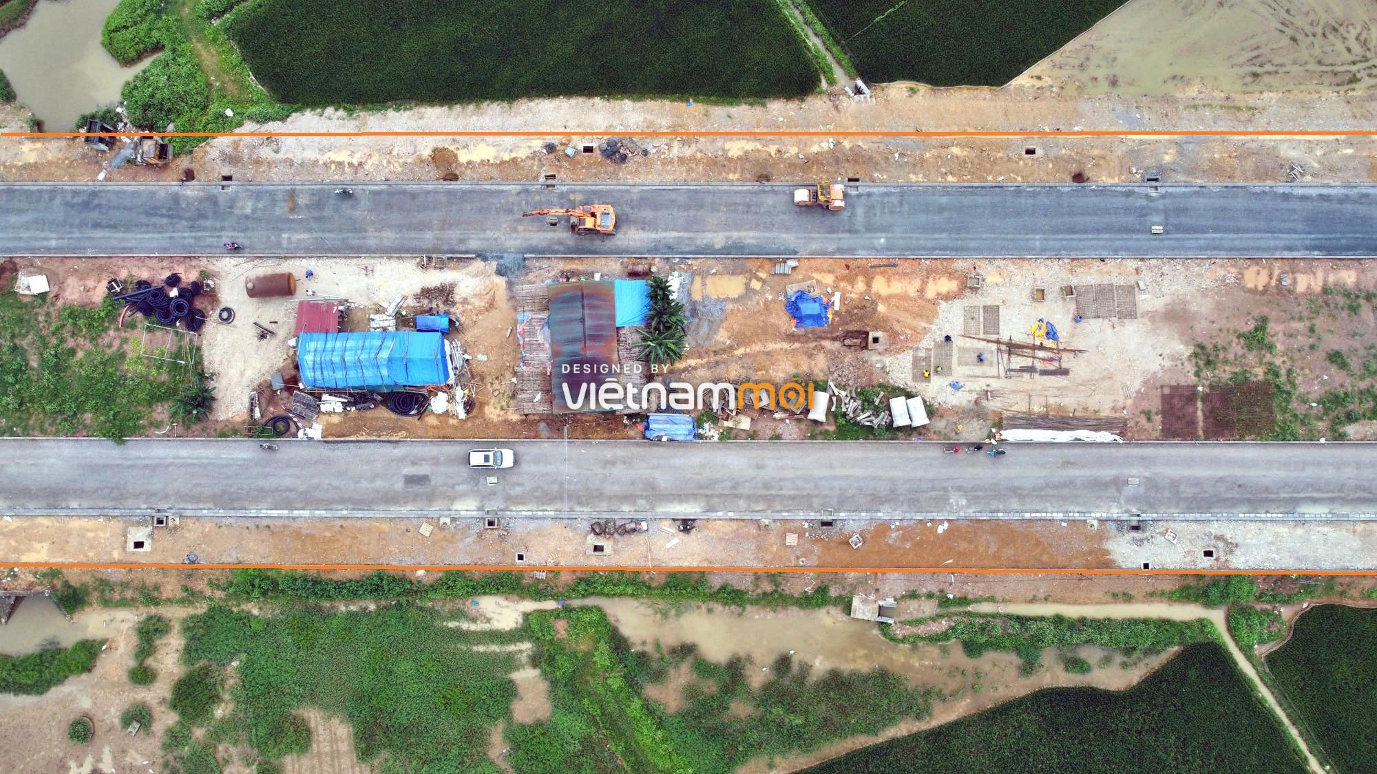 Toàn cảnh đường trục chính Bắc - Nam KĐT Quốc Oai kéo dài đang mở theo quy hoạch ở Hà Nội - Ảnh 6.