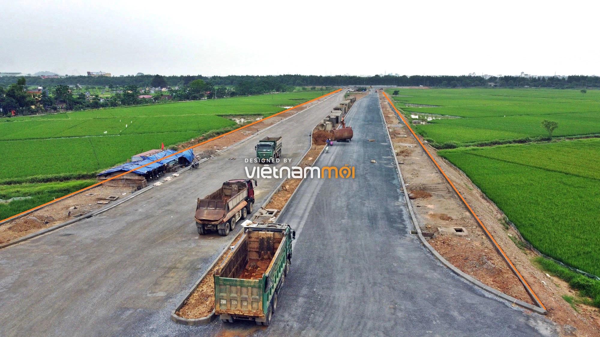 Toàn cảnh đường trục chính Bắc - Nam KĐT Quốc Oai kéo dài đang mở theo quy hoạch ở Hà Nội - Ảnh 7.