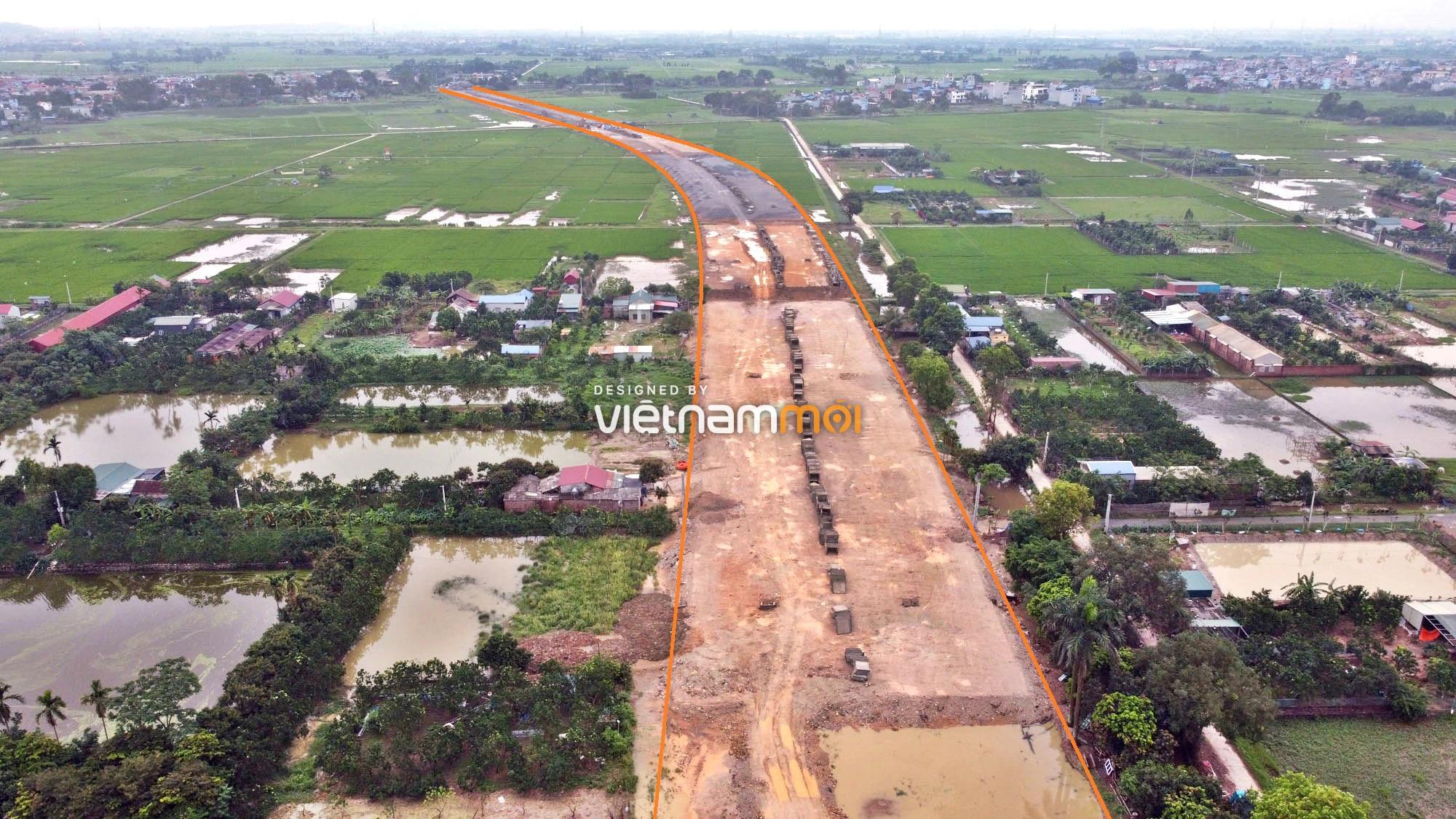 Toàn cảnh đường trục chính Bắc - Nam KĐT Quốc Oai kéo dài đang mở theo quy hoạch ở Hà Nội - Ảnh 9.