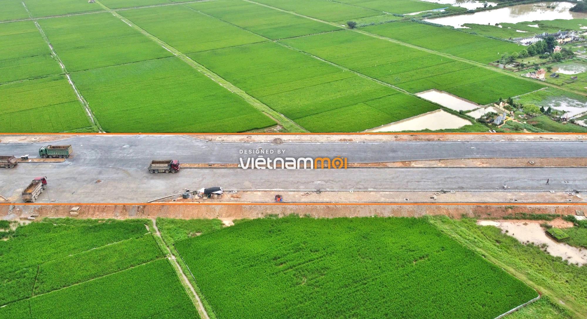 Toàn cảnh đường trục chính Bắc - Nam KĐT Quốc Oai kéo dài đang mở theo quy hoạch ở Hà Nội - Ảnh 11.