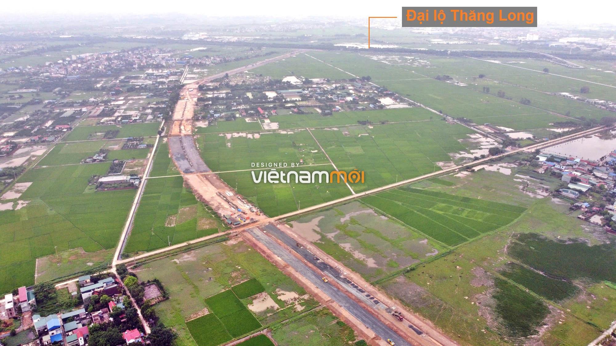 Toàn cảnh đường trục chính Bắc - Nam KĐT Quốc Oai kéo dài đang mở theo quy hoạch ở Hà Nội - Ảnh 12.