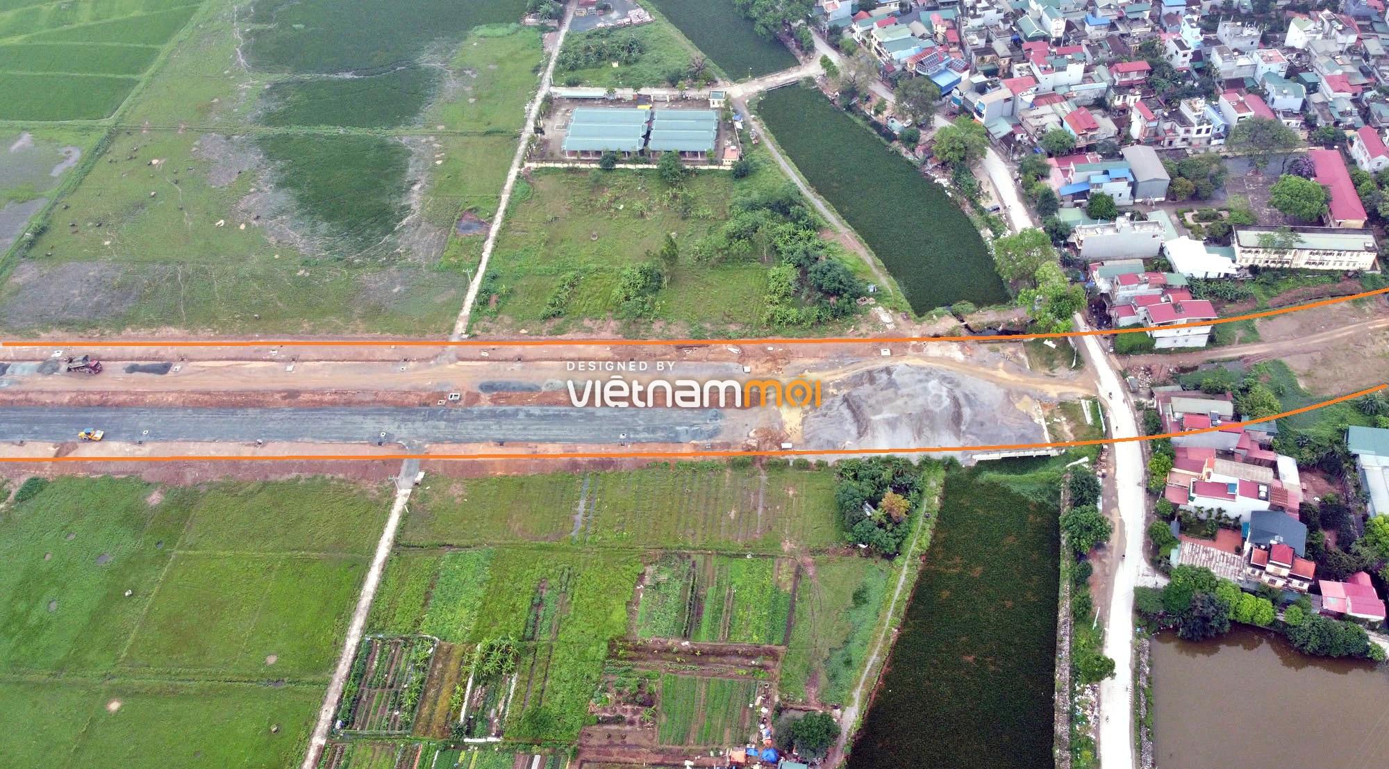 Toàn cảnh đường trục chính Bắc - Nam KĐT Quốc Oai kéo dài đang mở theo quy hoạch ở Hà Nội - Ảnh 16.