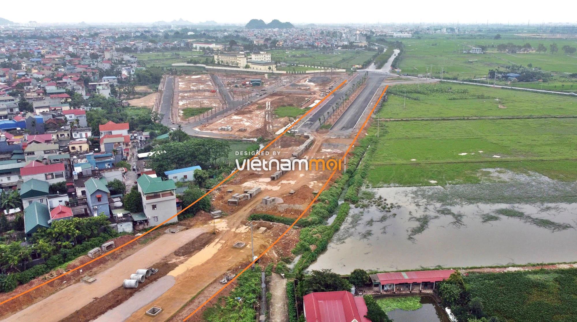 Toàn cảnh đường trục chính Bắc - Nam KĐT Quốc Oai kéo dài đang mở theo quy hoạch ở Hà Nội - Ảnh 17.