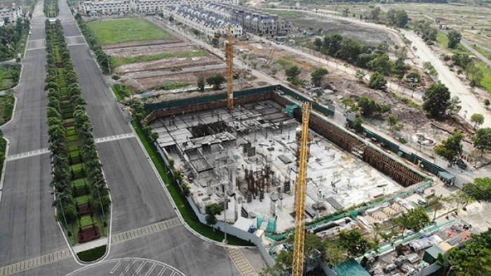Hà Nội vào cuộc kiểm tra dự án chung cư hơn 6.000 m2 không phép tại Hoài Đức - Ảnh 1.