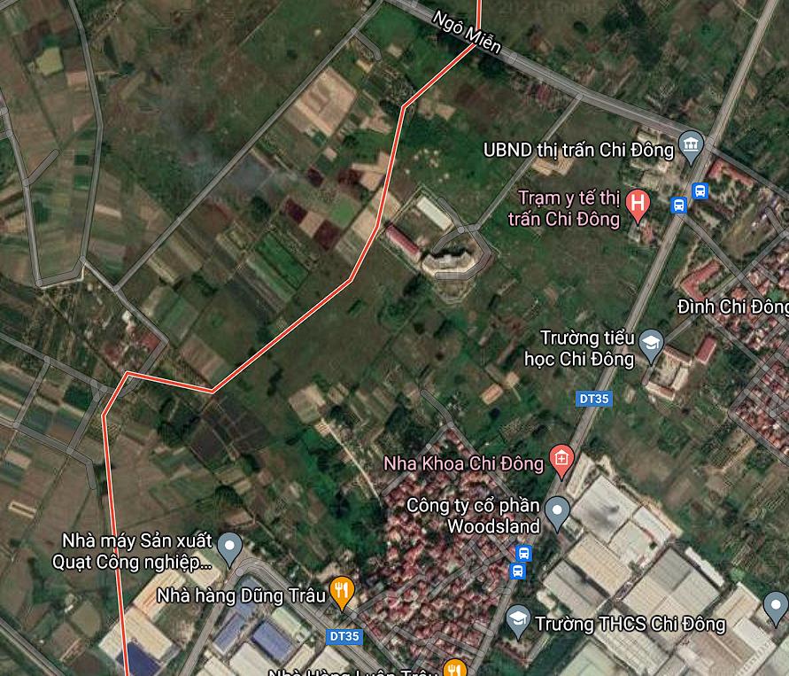 Đường sẽ mở ở thị trấn Chi Đông, Mê Linh, Hà Nội - Ảnh 2.