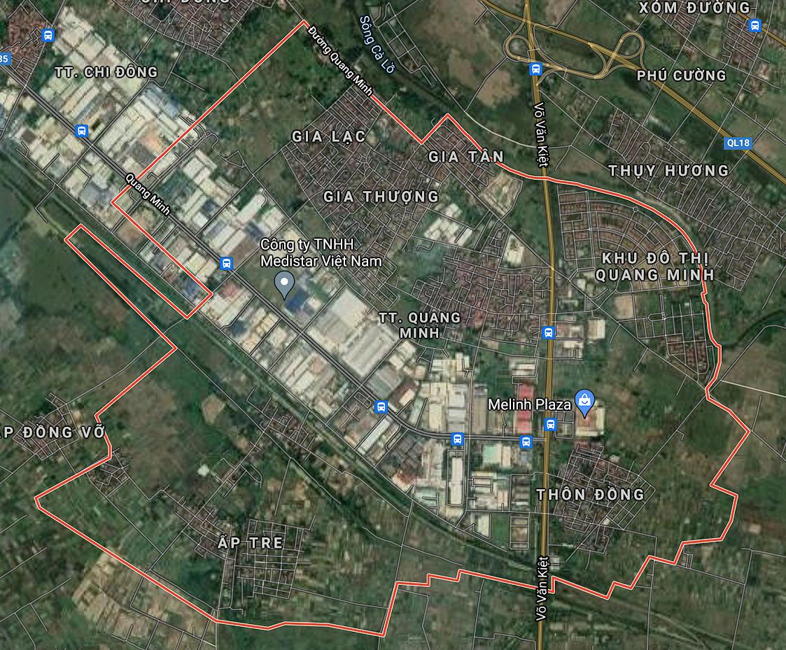 Kế hoạch sử dụng đất thị trấn Quang Minh, Mê Linh, Hà Nội năm 2021 - Ảnh 1.