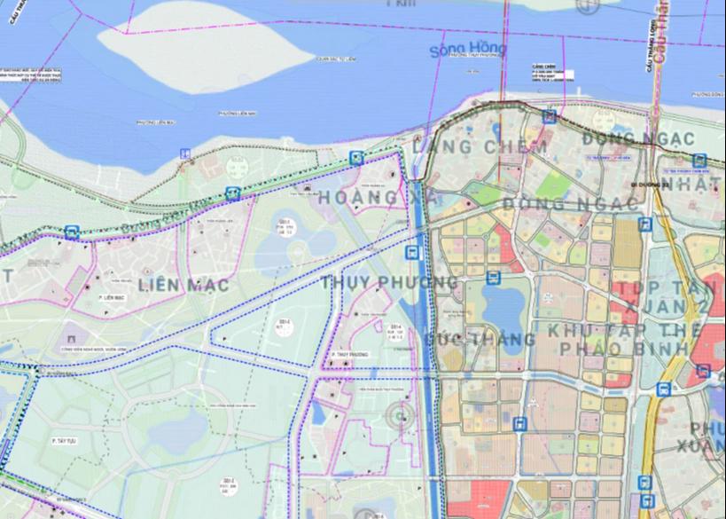 Bản đồ quy hoạch sử dụng đất phường Thuỵ Phương, Bắc Từ Liêm, Hà Nội - Ảnh 2.